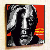 Картины и панно handmade. Livemaster - original item Painting a poster of Pablo Picasso in the style of Pop Art. Handmade.