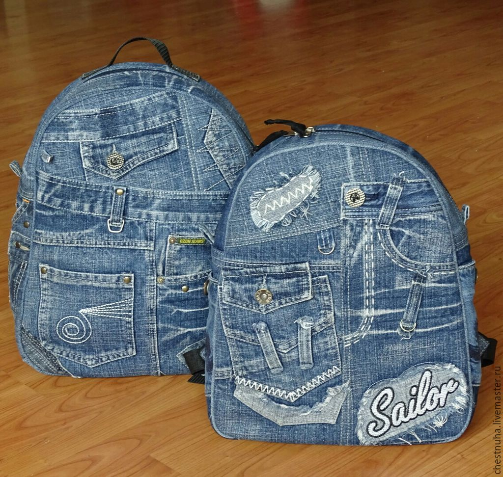 Портфель из джинс