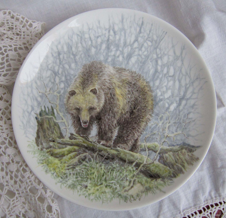Porcelain plates with animals, Plates, Zaoksky,  Фото №1