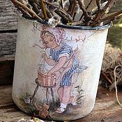 """Посуда ручной работы. Ярмарка Мастеров - ручная работа """"Маленькая хозяйка"""" большая кружка- ваза, для дачи, для дома. Handmade."""