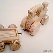 Куклы и игрушки ручной работы. Ярмарка Мастеров - ручная работа Паровозик с прицепом. Handmade.