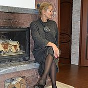 Одежда handmade. Livemaster - original item Sweater dress in Marengo with accessories. Handmade.