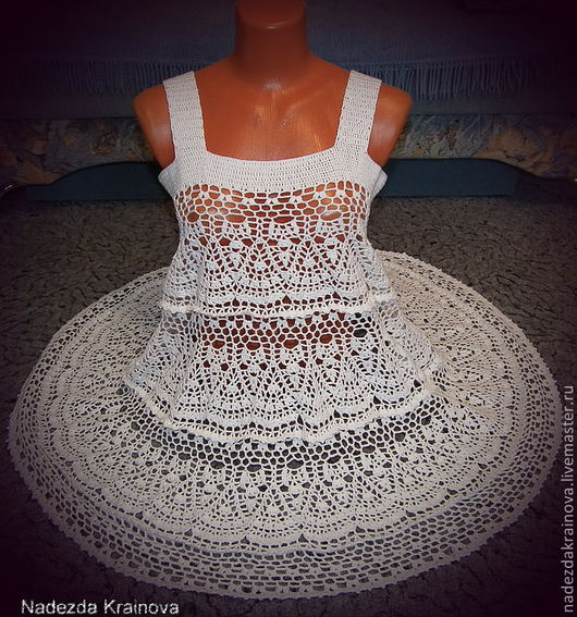 Платья ручной работы. Ярмарка Мастеров - ручная работа. Купить Сарафан летний. Handmade. Белый
