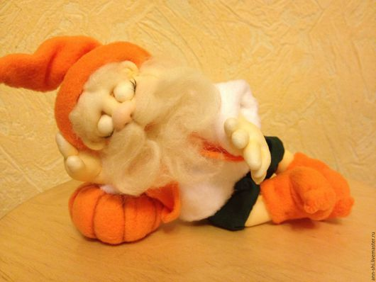 Коллекционные куклы ручной работы. Ярмарка Мастеров - ручная работа. Купить Солнечный гном. Handmade. Рыжий, кукла из капрона, хлопок