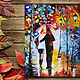 Пейзаж ручной работы. Ярмарка Мастеров - ручная работа. Купить картина маслом Пара под зонтом по Афремову. Handmade. Комбинированный