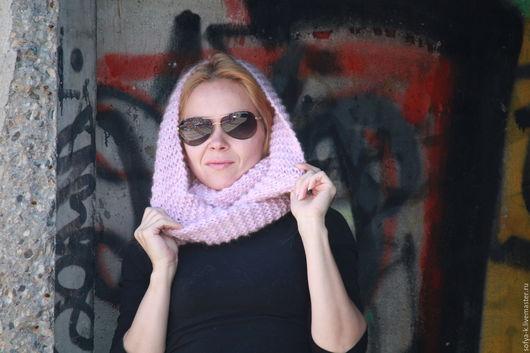 """Шарфы и шарфики ручной работы. Ярмарка Мастеров - ручная работа. Купить Снуд """"Зефир"""". Handmade. Розовый, снуд в два оборота"""