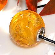 """Украшения ручной работы. Ярмарка Мастеров - ручная работа кулон - пандора """"Медовая"""", лэмпворк. Handmade."""