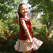 """Работы для детей, ручной работы. Ярмарка Мастеров - ручная работа Платье для девочки """"Аленький цветочек"""". Handmade."""