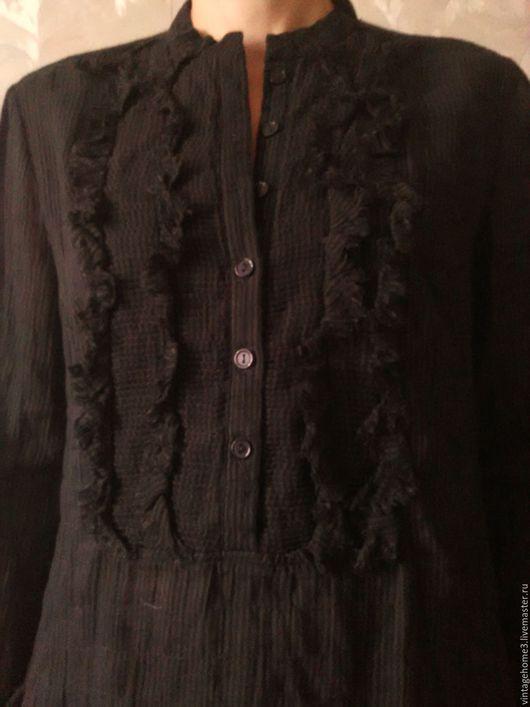 Одежда. Ярмарка Мастеров - ручная работа. Купить офисная блузка Sisley. Handmade. Черный, клетчатая блузка, черная блузка