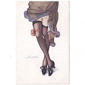 Винтаж ручной работы. Ярмарка Мастеров - ручная работа 1920-е годы. Чулочки. Ножки 2. Антикварная открытка. До 1917 года. Handmade.