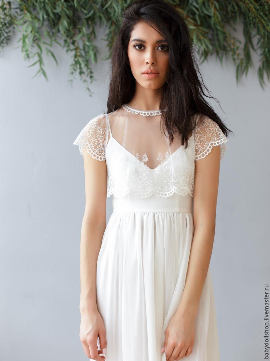 Платье Кружевное Белое Длинное Купить