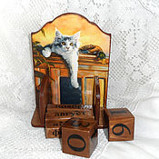Канцелярские товары handmade. Livemaster - original item Perpetual calendar We are waiting for you with a duck))). Handmade.