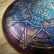 Музыкальные инструменты handmade. Livemaster - original item Glucopon with the mandala. steel drum, tank drum, handpan.. Handmade.