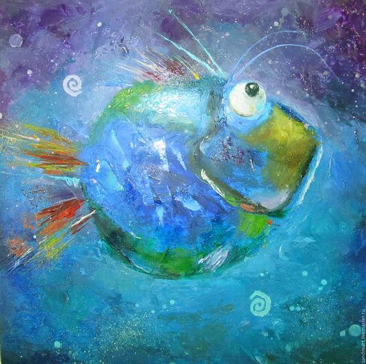 Животные ручной работы. Ярмарка Мастеров - ручная работа. Купить рыбка. Handmade. Синий, handmade