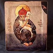 Картины и панно handmade. Livemaster - original item Wood icon of Saint Spyridon. Handmade.