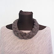 Одежда handmade. Livemaster - original item Grey poncho