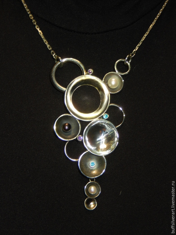 Necklace silver 'the Far side of the Moon', Necklace, Ekaterinburg,  Фото №1