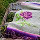 """Текстиль, ковры ручной работы. Заказать Коврик в стиле шебби шик """"Сиреневые розы"""". Просто Счастье. Ярмарка Мастеров."""
