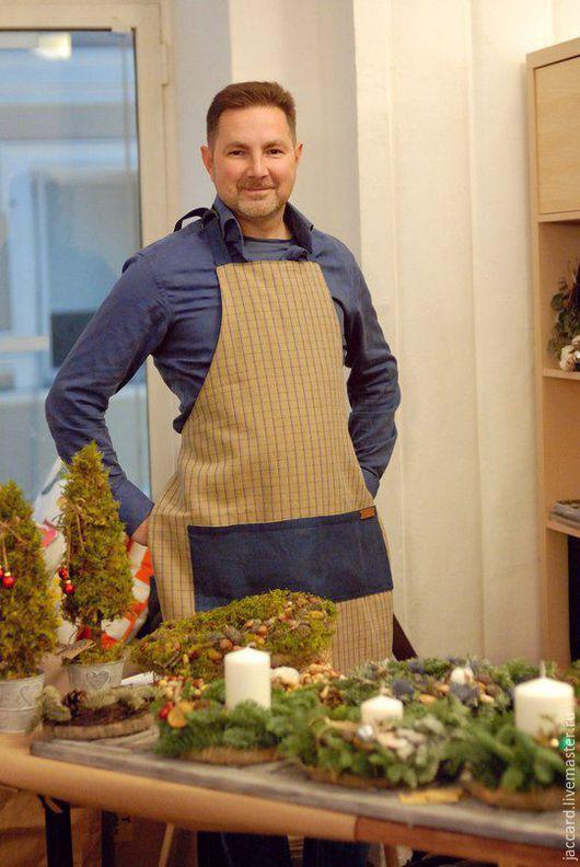Кухня ручной работы. Ярмарка Мастеров - ручная работа. Купить Фартук для кухни. Унисекс. Handmade. Комбинированный, подарок на любой случай