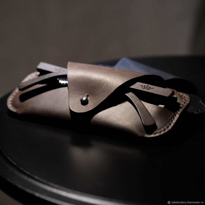 Eyeglass case made of genuine leather, stylish glasses case, hand stitch, Eyeglass case, Moscow,  Фото №1