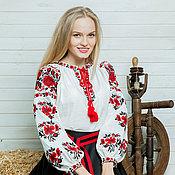 """Одежда ручной работы. Ярмарка Мастеров - ручная работа Вышиванка сорочка женская """"Рута""""  вышитая блуза. Handmade."""