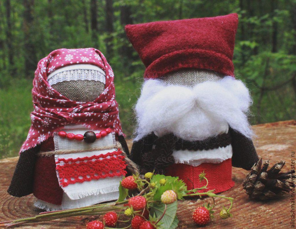 """Купить Куколки-обереги """"Крупеничка и Богач"""" - славянские куклы, куклы обереги, народные куклы, крупеничка"""