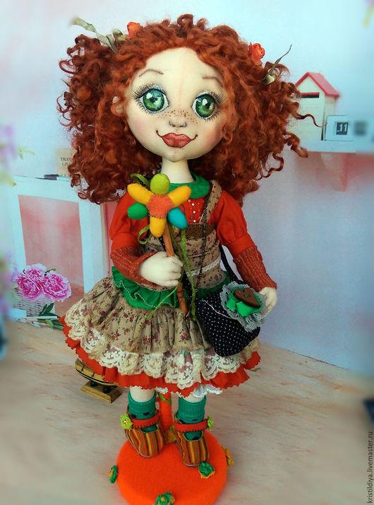 Коллекционные куклы ручной работы. Ярмарка Мастеров - ручная работа. Купить Кукла текстильная интерьерная коллекционная Полинка. Art doll. Handmade.