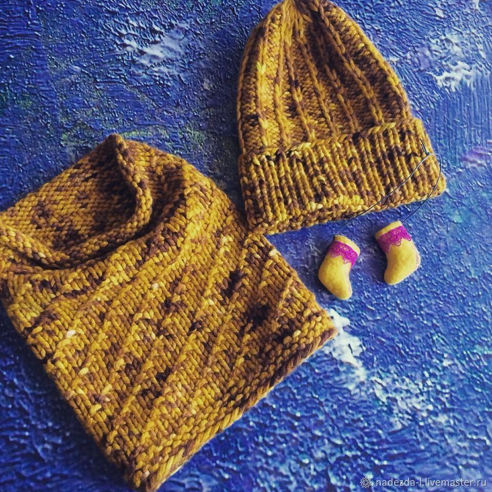 --15% Knitted set ' Mustard..!!', Headwear Sets, Belovo,  Фото №1