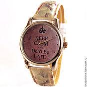 Украшения ручной работы. Ярмарка Мастеров - ручная работа Дизайнерские наручные часы Do not Be Late. Handmade.