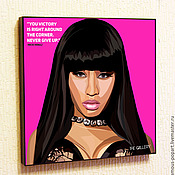 Картины и панно handmade. Livemaster - original item Picture poster Nicki Minaj Pop Art. Handmade.