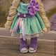 Коллекционные куклы ручной работы. Текстильная куколка малышка Софи. Юлия Соколова. Ярмарка Мастеров. Ангелочек, пряжа детская