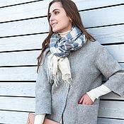 Одежда ручной работы. Ярмарка Мастеров - ручная работа Валяное пальто Серебро. Handmade.