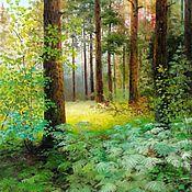 Картины и панно handmade. Livemaster - original item Oil painting Peisaju sosnah Vladimir Chernov. Handmade.