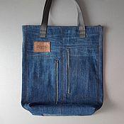 Сумки и аксессуары handmade. Livemaster - original item shopper: Pull&BEAR denim shopping bag. Handmade.
