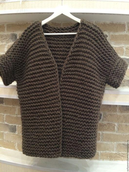 Кофты и свитера ручной работы. Ярмарка Мастеров - ручная работа. Купить Кардиган крупной вязки oversize. Handmade. Кардиган