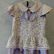 Работы для детей, ручной работы. Ярмарка Мастеров - ручная работа Платье для девочки   сирень. Handmade.