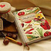 Recipe books handmade. Livemaster - original item Cookbook. Handmade.
