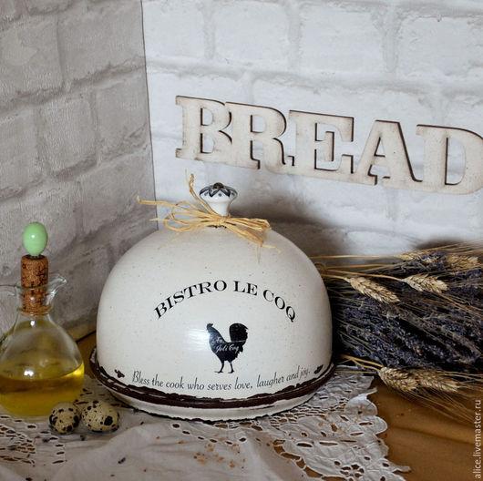 Кухня ручной работы. Ярмарка Мастеров - ручная работа. Купить Хлебница-клош. Handmade. Белый, кухонный интерьер, массив липы