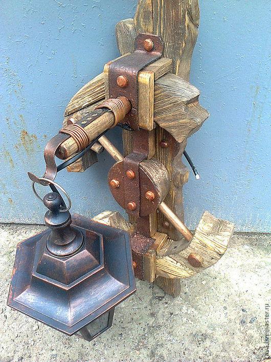 Освещение ручной работы. Ярмарка Мастеров - ручная работа. Купить cостаренное дерево. Handmade. Оливковый, Сосна состаренная
