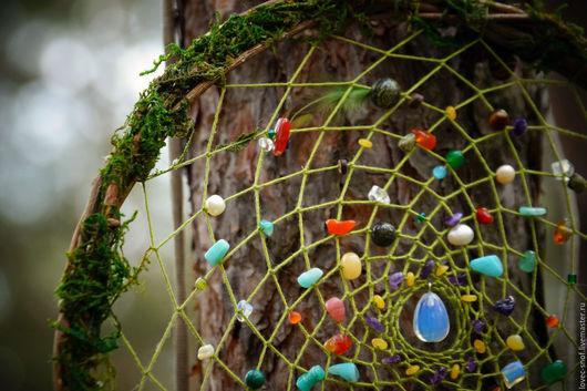 """Ловцы снов ручной работы. Ярмарка Мастеров - ручная работа. Купить """"Сокровище леса"""" ловец снов лесной. Handmade. Зеленый"""