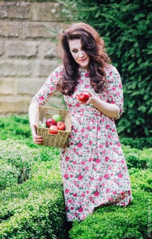 Платья ручной работы. Ярмарка Мастеров - ручная работа. Купить Chelsea Rose midi dress in coral pink. Handmade.