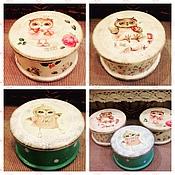 Для дома и интерьера ручной работы. Ярмарка Мастеров - ручная работа Шкатулочки для мелочей Совята. Handmade.
