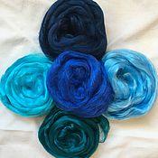 Материалы для творчества handmade. Livemaster - original item Color set viscose blue 100 gr.. Handmade.