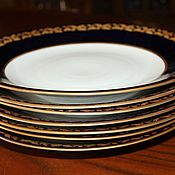 Винтаж handmade. Livemaster - original item Large, table plates, cobalt with gold rim, Weimar, Herm. Handmade.