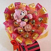 """Подарки к праздникам ручной работы. Ярмарка Мастеров - ручная работа Букет из конфет """"Прелесть"""". Handmade."""