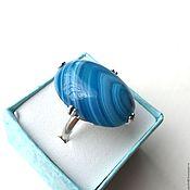 Украшения ручной работы. Ярмарка Мастеров - ручная работа Кубачи! Серебряное кольцо 925 пробы Голубика. Handmade.