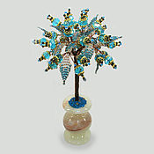 Цветы и флористика handmade. Livemaster - original item A wish tree made of Topaz in a vase of onyx. Handmade.