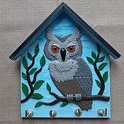 Для дома и интерьера handmade. Livemaster - original item Housekeeper Grey Owl. The housekeeper wall.. Handmade.