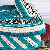 Для дома и интерьера handmade. Livemaster - original item Set of knitted baskets with a carved lid.. Handmade.