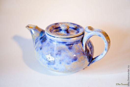 Чайники, кофейники ручной работы. Ярмарка Мастеров - ручная работа. Купить Чайник кристаллический. Handmade. Разноцветный, белый, керамический чайник